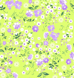 Pastel ditsy floral seamless background vector