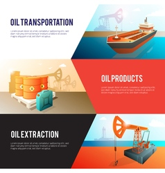 Petroleum Oil Industry isometric Banners Set vector