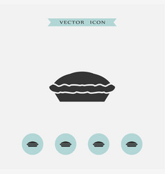 pie icon simple vector image