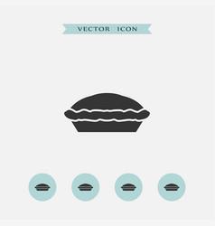 Pie icon simple vector