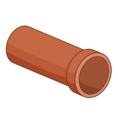 Plastic pipe icon cartoon style vector