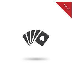 poker full icon vector image