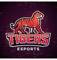 Premade tiger mascot Sport logo design vector