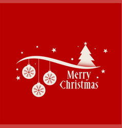 Red merry christmas background decoration greeting vector