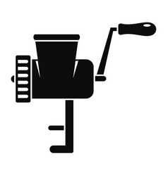 retro meat grinder icon simple style vector image