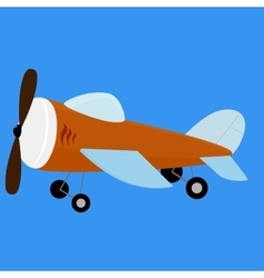 Retro plane toy vector
