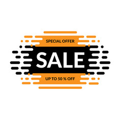 sale banner special offer design vector image