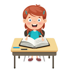 school child vector image