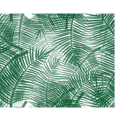 Seamless pattern with green palm twigs vector