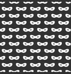 Seamless pattern with mask black and white vector