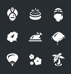 set arabic harem icons vector image
