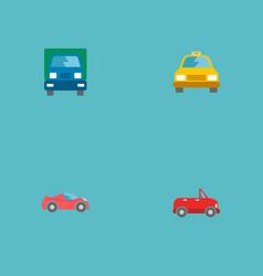 set of auto icons flat style symbols with lorry vector image