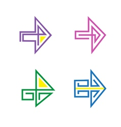 Set Of Stylized Arrows For Design Purposes vector image