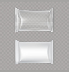 Set white and transparent plastic bags vector