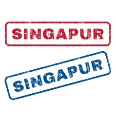 Singapur Rubber Stamps vector