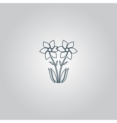 Spring flowers growing vector image