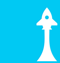 startup rocket banner with rocket vector image