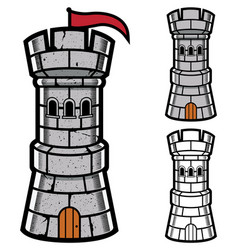 stone tower mascot vector image