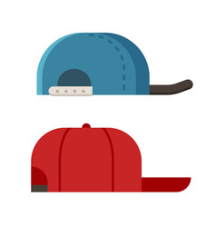 Summer caps icons vector