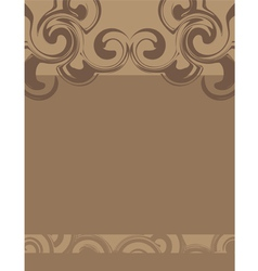 Swirly brown background vector image