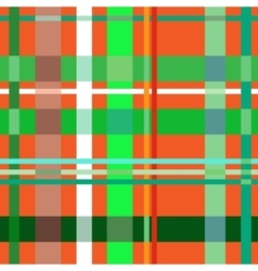 Tartan orange seamless pattern vector image