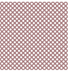 tile pattern with white polka dots on pastel pink vector image
