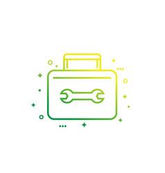 Toolbox line icon vector