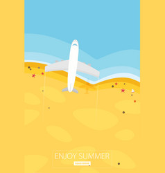travel in a flat styleworld travel bannerair vector image