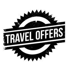 Travel Offers rubber stamp vector image
