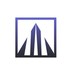 triangle building abstract logo icon vector image