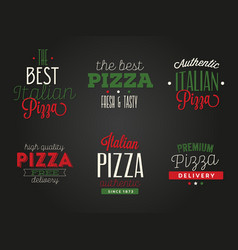 Variety italian food set vector