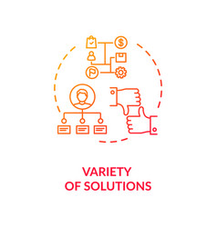 Variety solutions concept icon vector
