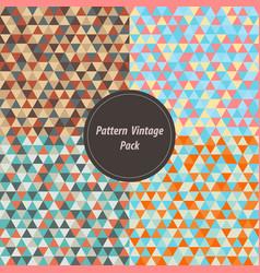 vintage geometry pattern set pack retro color in vector image