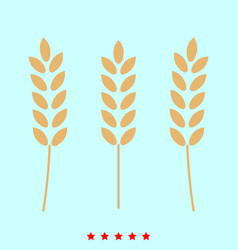 Wheat set it is color icon vector