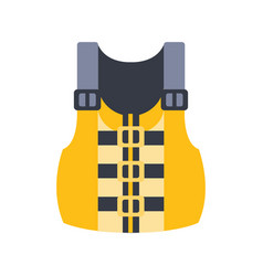Yellow and grey life vest part of boat and water vector