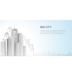 Abstract city skyline vector image