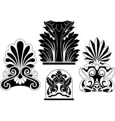 architectural stencil vector image vector image