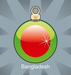 Bangladesh flag on bulb vector image vector image