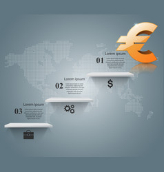 euro icon business infographics vector image vector image