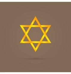 golden Magen David vector image vector image