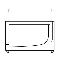 Monochrome silhouette of banner pendant of threads vector