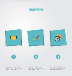 Set of projects icons flat style symbols with vector
