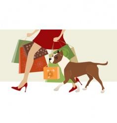 shopping helper vector image vector image