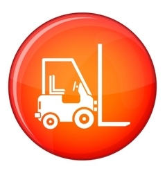 Stacker loader icon flat style vector image