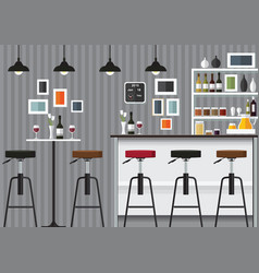 bar interior vector image vector image