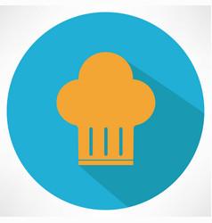 chief cook symbol toque vector image