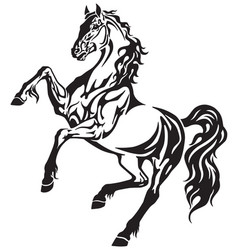 horse tribal tattoo vector image