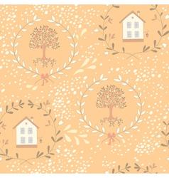 Orange tree seamless pattern vector image vector image