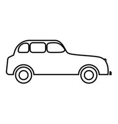 retro car icon black color flat style simple image vector image vector image