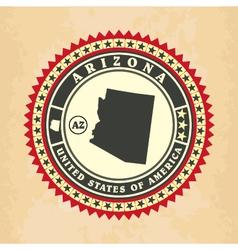 Vintage label-sticker cards of Arizona vector image vector image